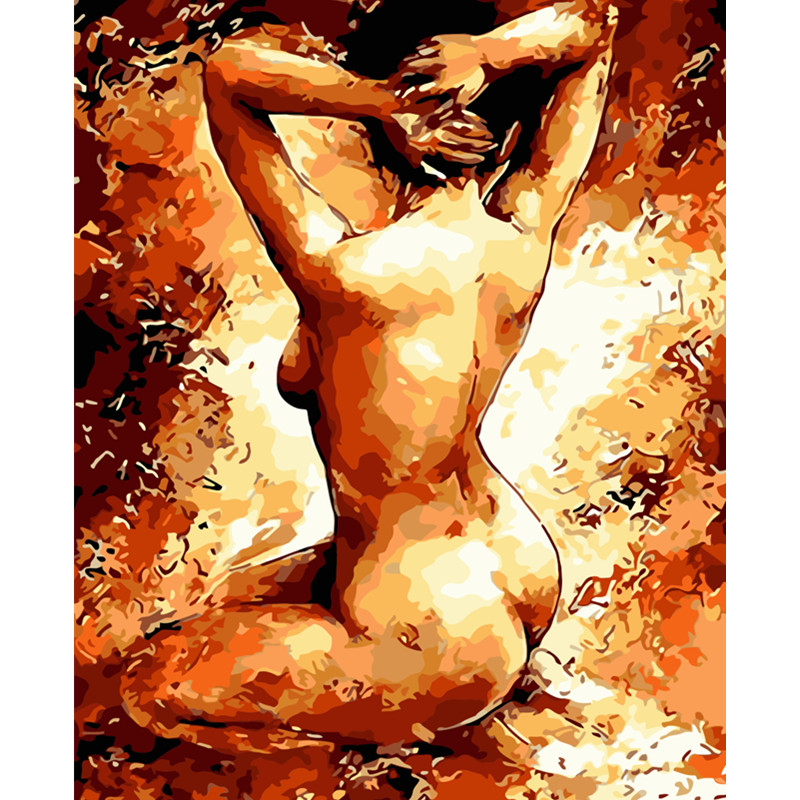 Painting By Numbers DIY Dropshipping 40x50 50x65cm Sexy Temptation Woman Figure Canvas Wedding Decoration Art Picture Gift