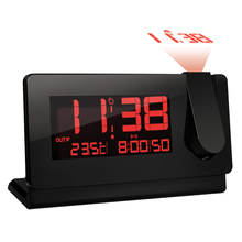 LED Projection Table Clock for Bedroom Decor