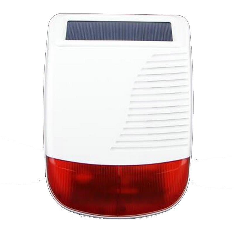 Sirène stroboscopique étanche sans fil à énergie solaire 868 Mhz pour système d'alarme GSM bricolage sirène autonome sur place et sirène Flash d'alarme
