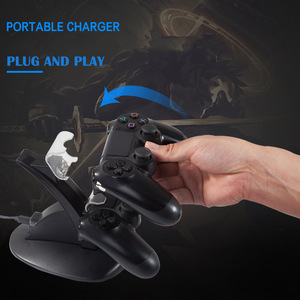 Image 5 - Controller Ladegerät Dock LED Dual USB PS4 Stand up Ladegerät Für Sony PlayStation 4/PS4 Pro Drahtlose Spiel griff Joystick halter