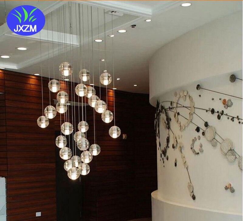 36lights G4 LED Crystal Glass Ball Pendant light AC110V 220V AC12V100mm diameter lamp Restaurant stair bar