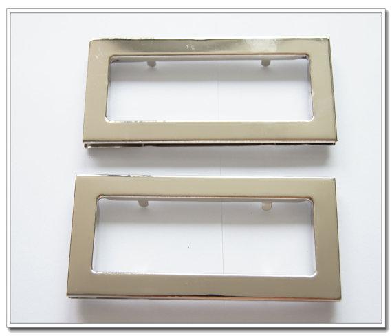 Bolsa de Lidar com Pares Polegada Diâmetro Interno Prata Oval Metal Bolsa Handle Cortado de Lidar com Dez 3.6