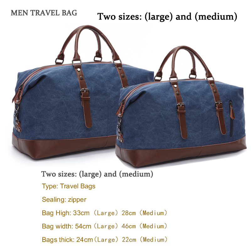 f810fdb79 ... Tote Large Weekend Bag Overnight. . High Quality Canvas Leather Men  Travel Bags Carry on Luggage Bags Men Duffel Bag Travel Handbag. sku:  32955341885