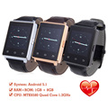 NO.1 D6 Android 5.1 MTK6580 Bluetooth4.0 3G WiFi GPS Smartwatch Phone 1G RAM 8G ROM Heart Rate Monitor Pedometer for Android IOS