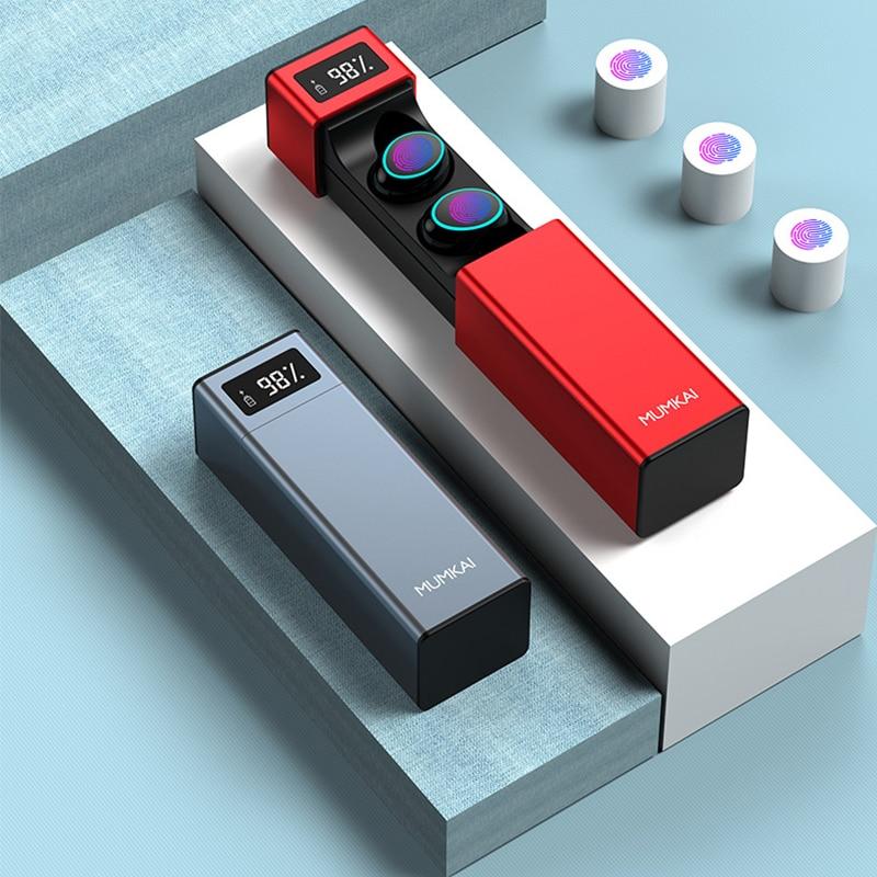 new TWS wireless Bluetooth earbud IPX7 waterproof earphones smart fingerprint touch hifi lossless sports earbuds bluetooth 5.0-in Bluetooth Earphones & Headphones from Consumer Electronics