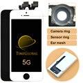 1 ШТ. Свободный корабль Alibaba китай Для IPHONE 5S 5G 5C Жк-Дисплей с Сенсорным Экраном Замена Ассамблеи + Камера кольцо