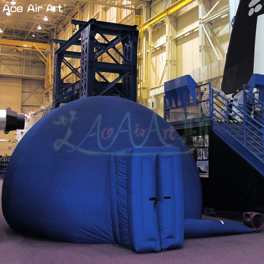 Planétarium gonflable de qualité supérieure de diamètre de 5 m, tente de dôme de chapiteau d'écran de Projection d'école avec la porte et le ventilateur libre pour le japon