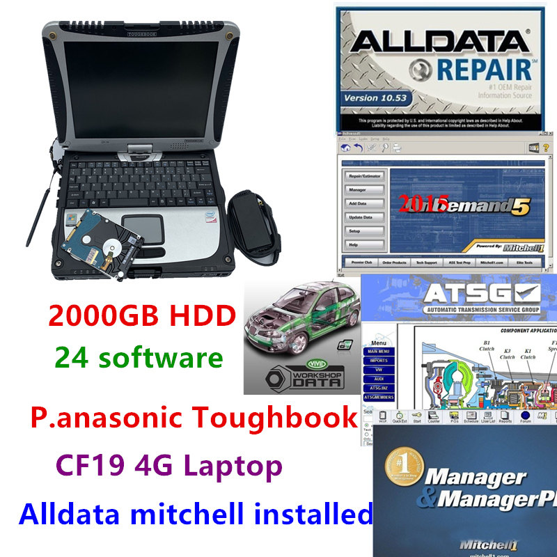 Alldata 10,53 Mitchell Ondemand 2015 Vivid Werkstatt Atsg Elsawin In 2000 Gb Hdd Alldata Mitchell Installiert Cf19 Laptop Windows 7 SchöNer Auftritt