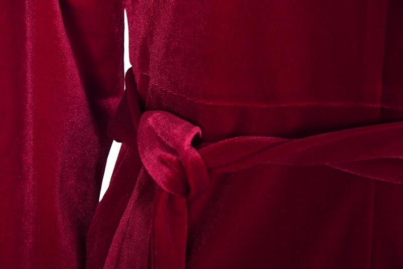 Automne Velours Barboteuses claret 2018 Célébrité Nouveau Combinaisons Femmes Élégante Lsysag Mode Femelle Combinaison De Blue Dark Vêtements Pantalon Uni ztdwU