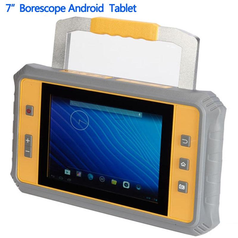 Borescope Endoscope 7 Rugged Android Tablet PC Waterproof Shockproof Support AV USB Camera Snake Scope Tube Pip Multifunctional rfid 125khz 7 inch fingerprint rugged tablet pc industry pc