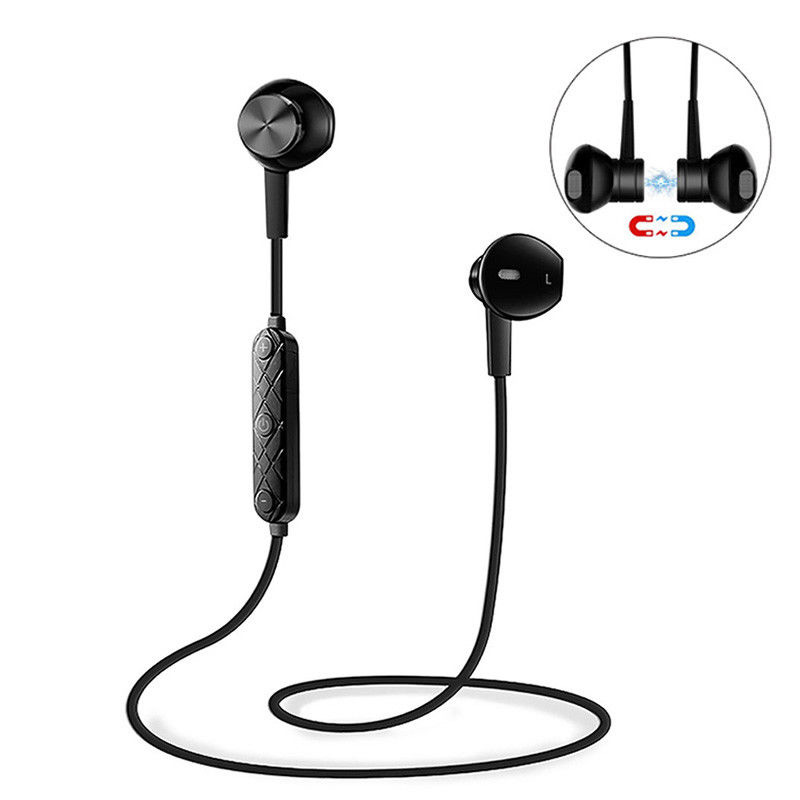 Sport Wireless Bluetooth Earphone V4.1 Bass Stereo Running Headset Magnet Noise Cancelling Earbuds with Microphone for xiaomi