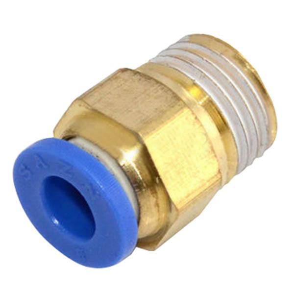 Parker 68ALS-8-6 Autoline Push-to-Connect Fitting SAE J2044 to Pipe Male SAE J2044 and NPTF Straight 1//2 and 3//8 Brass