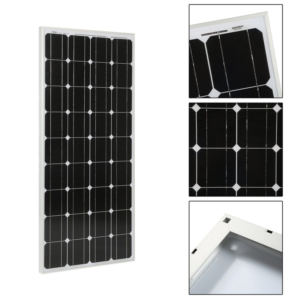 Monocrystalline 100W Solar Power System Module Solar Panel 12V Battery Charging For Off Grid RV Boat Car Motorhome battery