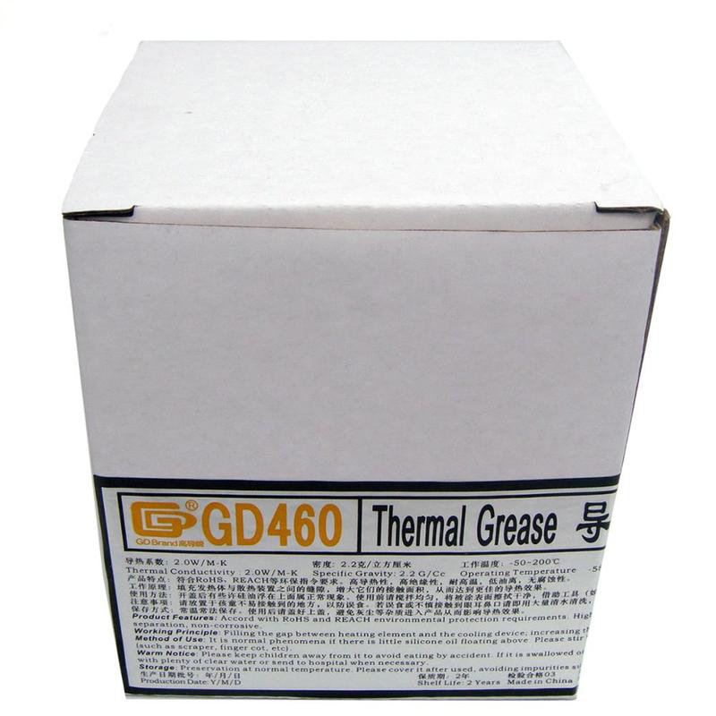 GD460 Silver Net Weight 1000 Gram Thermal Grease Silicone High Performance For Heat Sink For CPU GPU Cooler CN1000