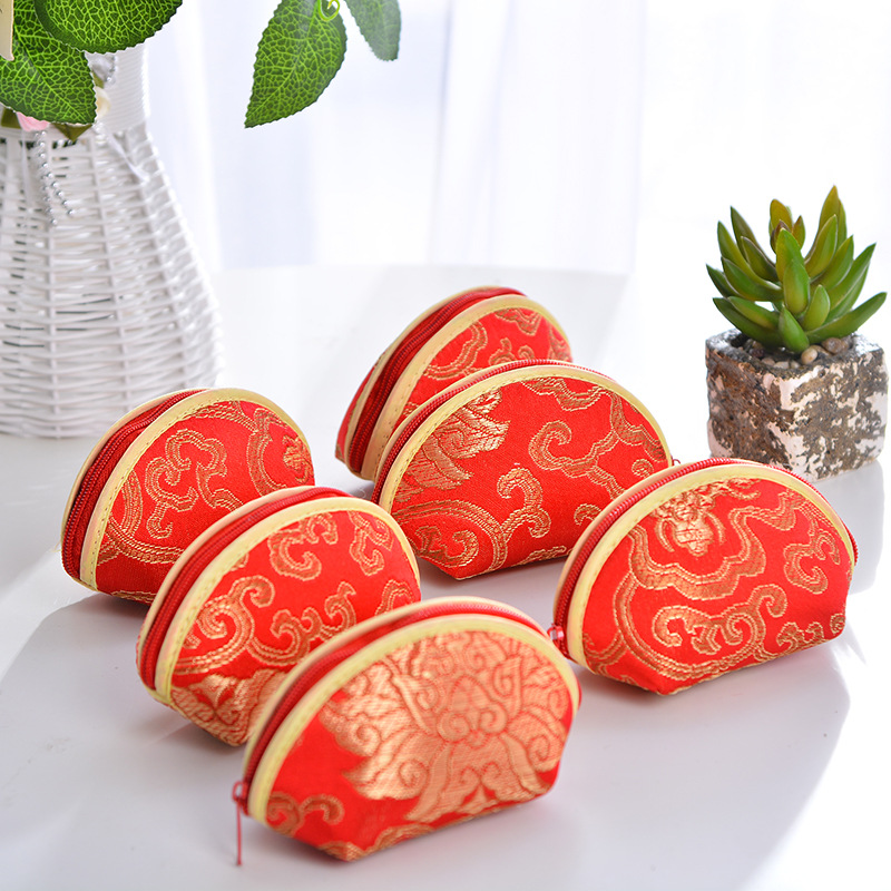 Chinese Style Shell Shape Wedding Favor Gifts Bags Birthday Candy Bags Boxes for Party Decorations Supplies