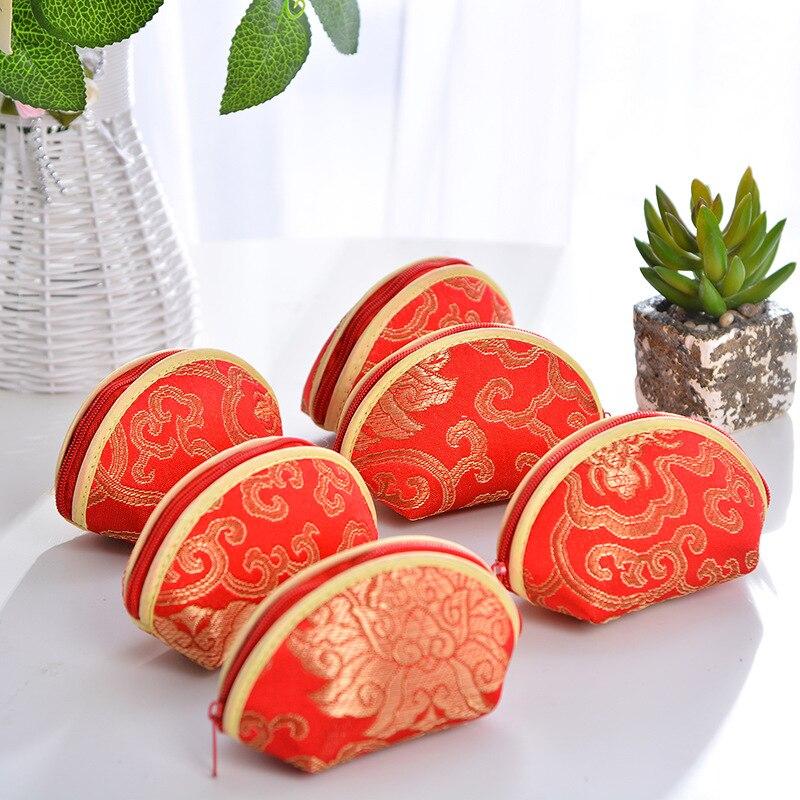 Ev ve Bahçe'ten Hediye Çantalar ve Sarma Malzemeleri'de Çin Tarzı Kabuk Şekli Düğün Favor Hediyeler Çanta Doğum Günü Şeker Çanta Kutuları Parti Süslemeleri Malzemeleri için 100 adet/grup'da  Grup 1