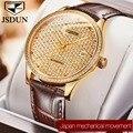2019 новые автоматические механические часы мужские сапфировые JSDUN Роскошные брендовые водонепроницаемые часы мужские наручные часы с брилл...