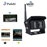 Podofo WIFI Reversing Camera Dash Cam For Truck RV Camper Trailer Vehicle Rear View Camera Work with iphone or Andriod Devices