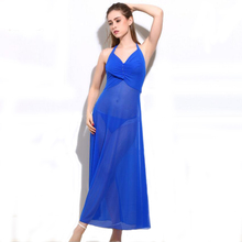 Woman 2018 sexy lingerie hot net yarn nightgown erotic babydoll for sex transparent long dress underwear costumes set