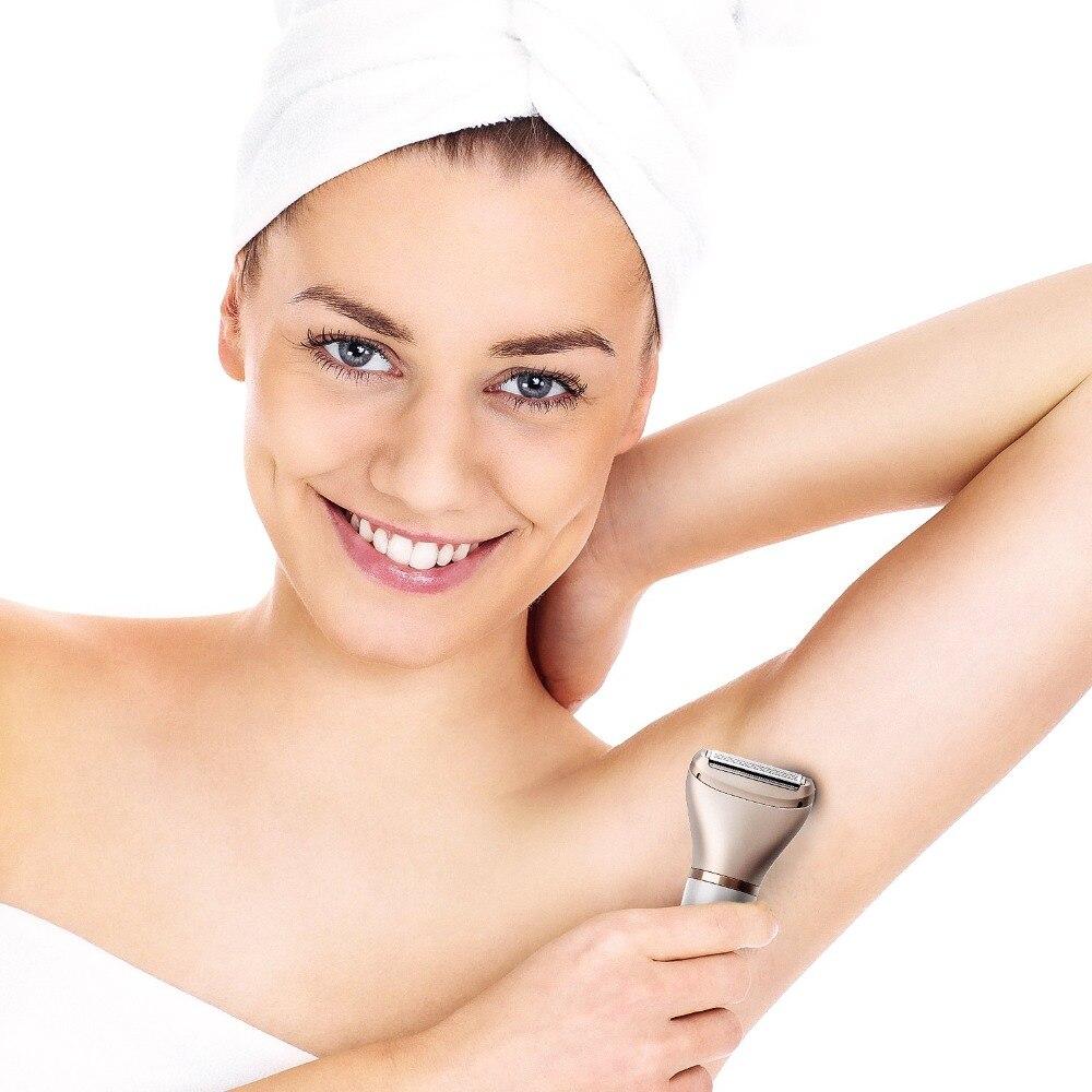 Электрический женский эпилятор средство для безболезненного удаления волос, электробритва для женских ног, лица, губ, бикини для депиляции женщин