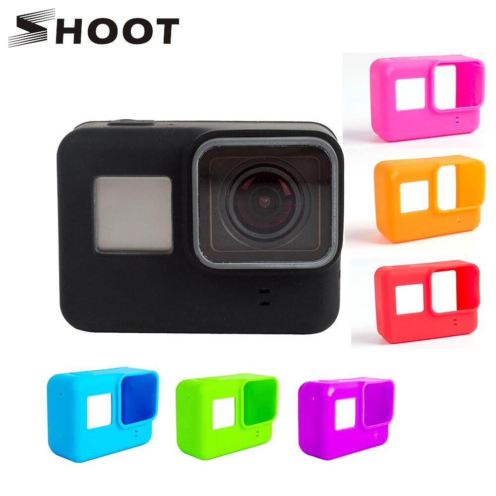 اطلاق النار لينة سيليكون حالة وقائية ل GoPro بطل 7 6 5 أسود الرياضة كاميرا جبل حالة ل الذهاب برو بطل 5 6 عمل ملحقات الكاميرا