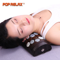 POP RELAX Health Care Stone Pillow Massage Relaxant Jade Germanium Tourmaline Neck Waist Pain Relief Physical Traction Massager