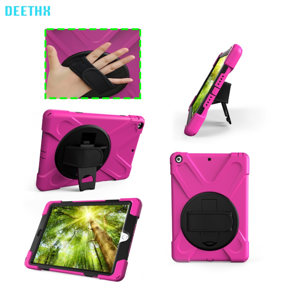 Case For New iPad 9.7 inch A1822 A1823 A1893 Duty Shockproof Hybrid Rubber Rugged Hard Protective Shell Cover+stand+hand strap case for new ipad 9 7 inch 2017 heavy duty 3 in 1 hybrid rugged durable shockproof for model a1822 alabasta
