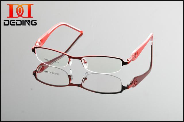 2015 Nuevas Mujeres del Diseño de la Manera Marco Miopía lente Marco Óptico Anteojos Comerciales Marco Mujer Bussiness Para Myopa DD0862