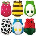 Ropa para bebés de algodón cuerpo infantil bebes clothing mono del bebé impreso de manga corta del muchacho del bebé monos