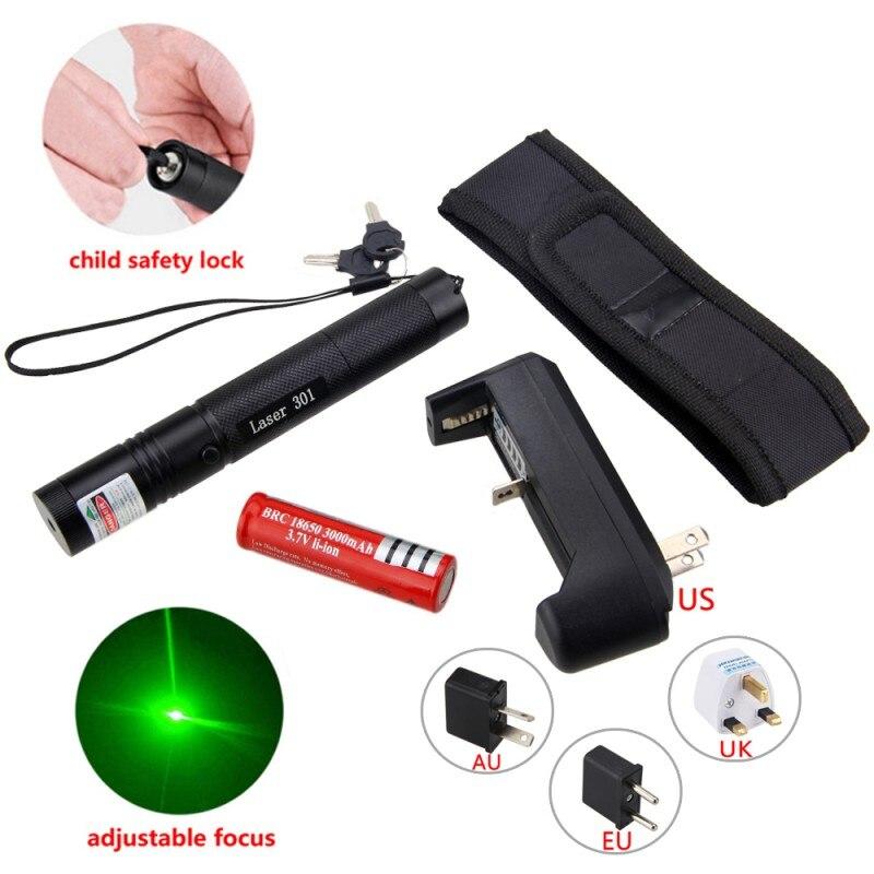 Тактический светло-красный/зеленый/фиолетовый лазер пера светлый милитари регулируемым фокусом лазер указатель + 18650 Перезаряжаемые Батар...