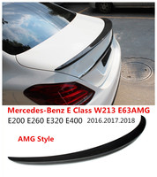 Car Carbon Fiber Spoiler For Mercedes Benz E Class W213 E63AMG 2016 2017 2018 High Quality