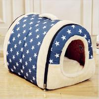 NEW Foldable Multifuctional Dog Bed Nest With Mat Pet Dog Bed Cat Bed House For Small