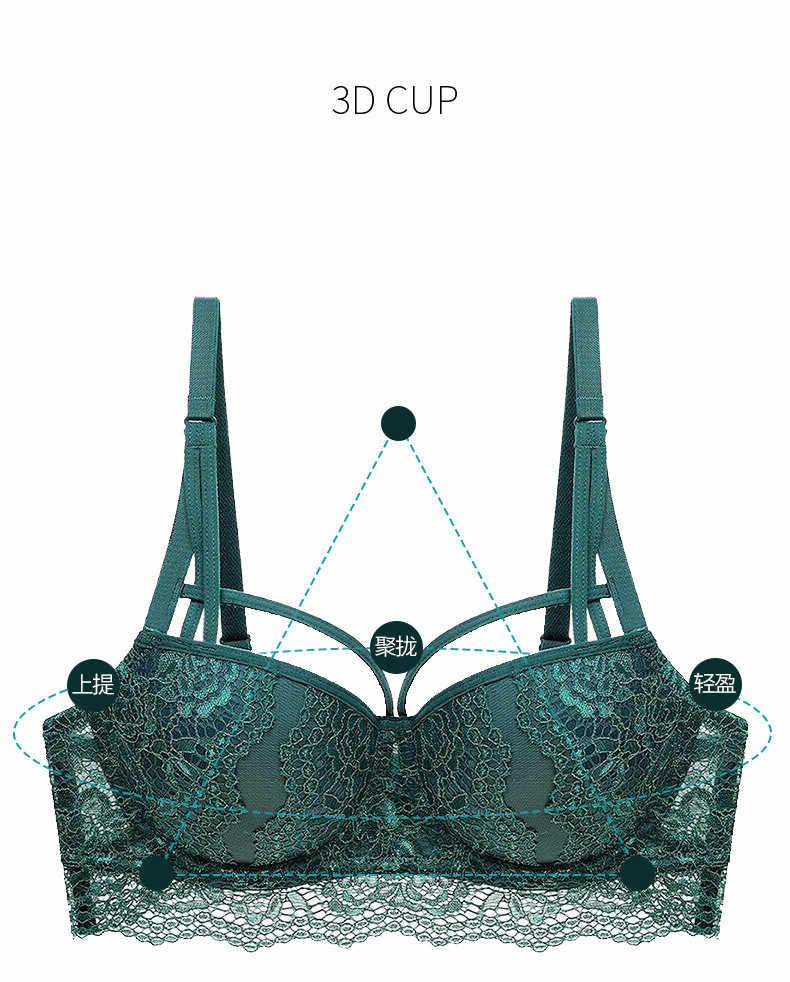 Nouvelle mode Sexy bandeau ensemble de soutiens-gorge rassemblé dentelle soutien-gorge Push Up soutien-gorge et slips transparents dames sous-vêtements ensembles livraison directe