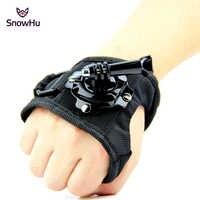 SnowHu für gopro zubehör 360 Grad Rotation Strap Handgelenk Gürtel Halterung für Go pro Hero 8 7 6 Xiaomi Yi 4k Action Kamera GP127L