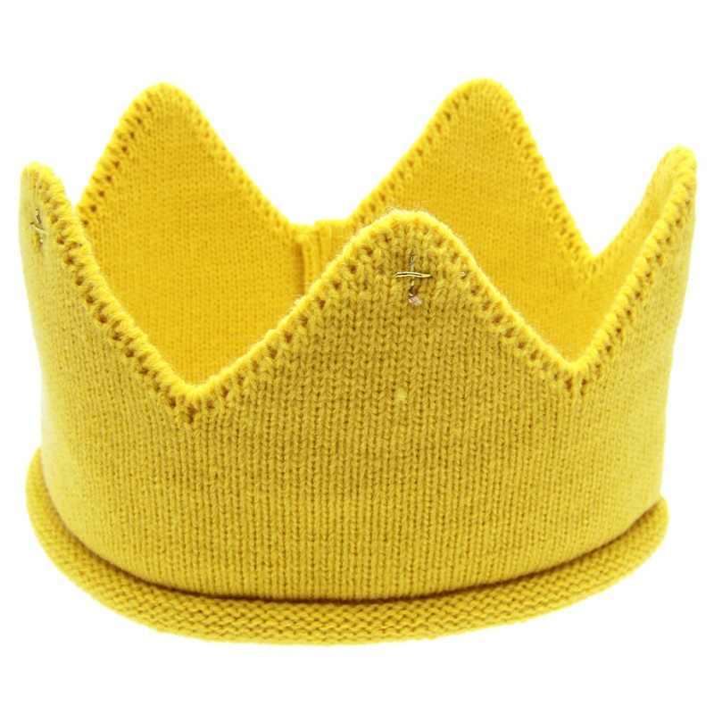 Diadema de corona para bebés Naturalwell Crochet accesorios para el pelo de niños bandas para el pelo suave cinta de pelo adorno de cabeza 1 pieza HB278