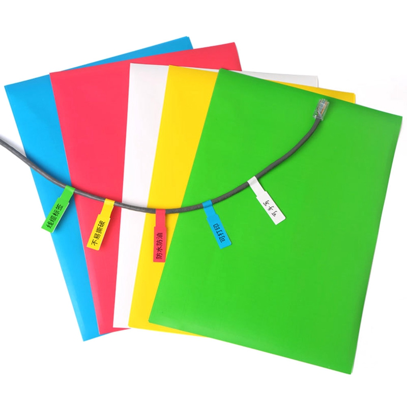 10sheets/pack Network Cable Labels Sticker A4 Size Color Blank Label Waterproof Stationery Sticker kicute 70sheets pack self adhesive blank label paper price sticker stationery mark sticker for office stores libraries supplies