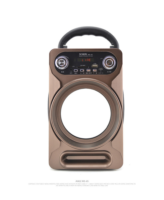 AWLE MS-65 SD card speaker portable rechargeable outdoor square dance sound man u disc player