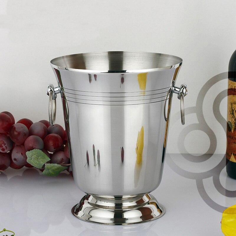In acciaio inox secchiello vino birra uva barile barile secchio champagne, secchiello per il ghiaccio ghiaccio bar KTV Club