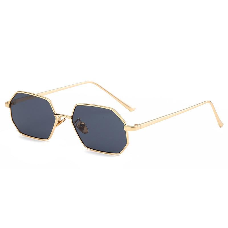 Designer Sunglasses Women 2019 High Quality UV400 Vintage Small Octagon Sunglasses Men Mirror Fashion Square Metal Frame Eyewear