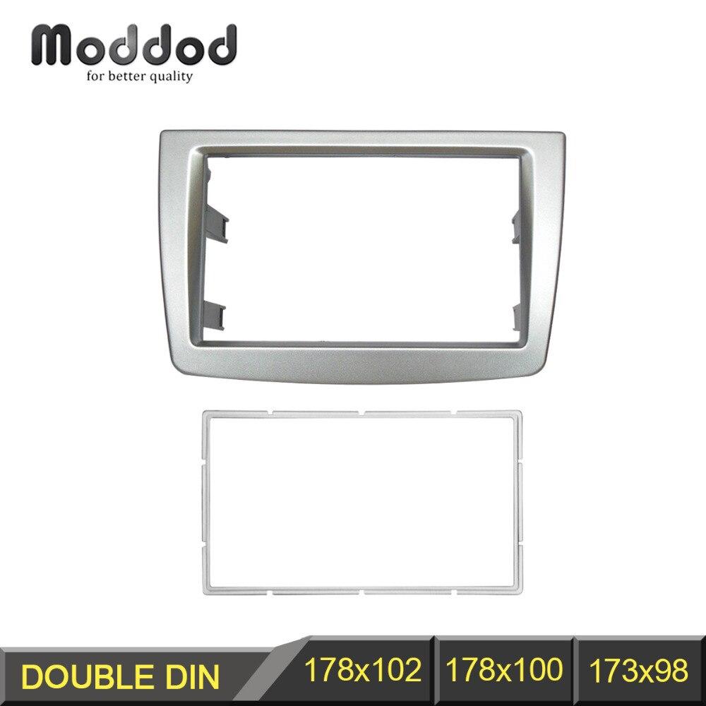 Double 2 Din Fascia For ALFA ROMEO MITO Radio DVD Stereo Panel Dash Mount Trim Kit Frame Surroud Plate Bezel kit alfa mito