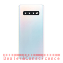 10 pçs voltar bateria de vidro capa para samsung galaxy s10e s10/s10 plus g970 g973 g975 porta traseira habitação caso + lente da câmera