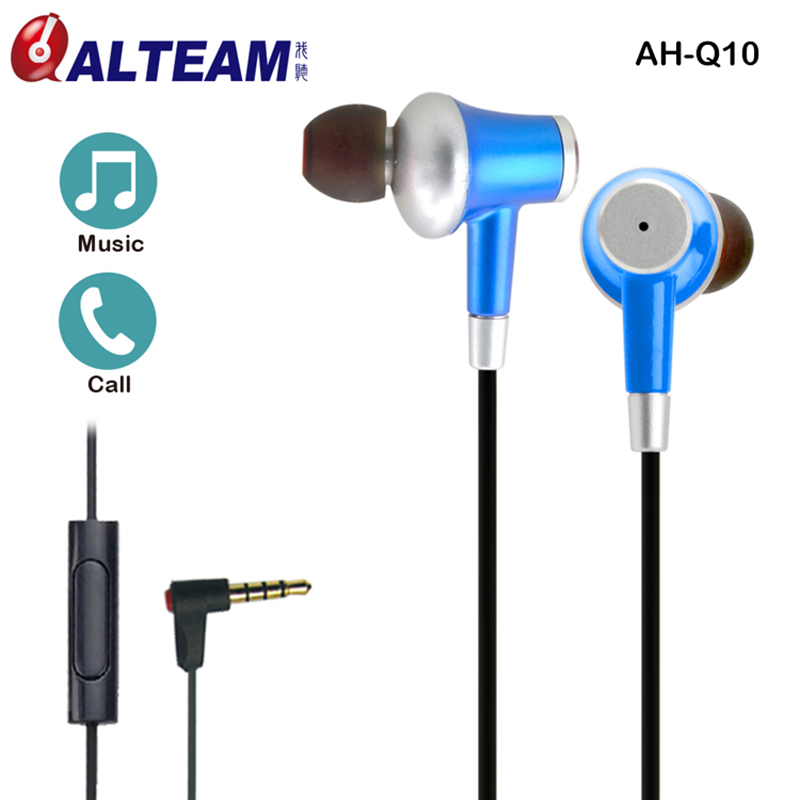 High Quality Wire In-Ear Ear Fit Hands Free Ear phones Earphone Earbuds 3.5mm with Microphone for Mobile samsung xiaomi iphone