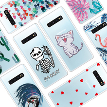 GerTong Soft TPU Pattern Case For Samsung Galaxy A10 A20 A30 A40 A50 A60 A70 M10 M20 M30 A40S A20E A 50 Silicon Back Cover Coque