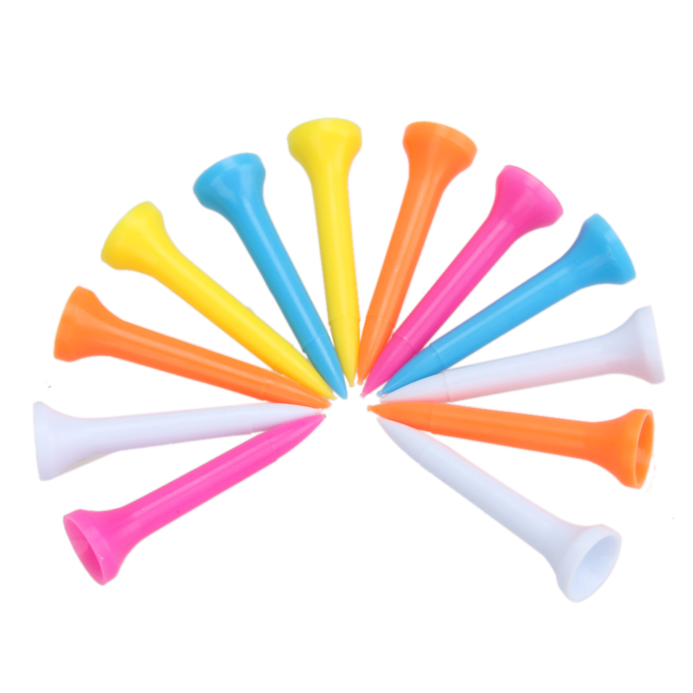 Hot Sale 100Pcs Portable Lightweight Mixed Color Plastic 42mm(1 2/3 Inch) Golf Tees Lightweight And Portable New Arrival