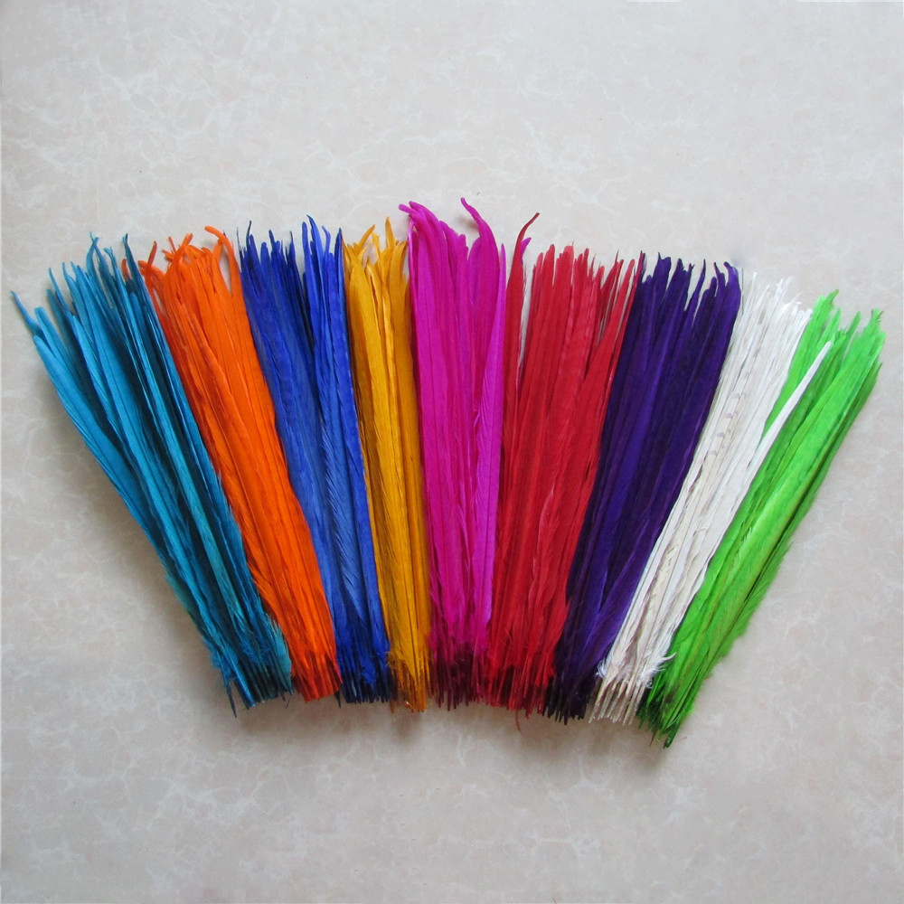 40 45cm 16 18 inch dyed pheasant feather multicoloured select DIY wedding decoration 50 root sell