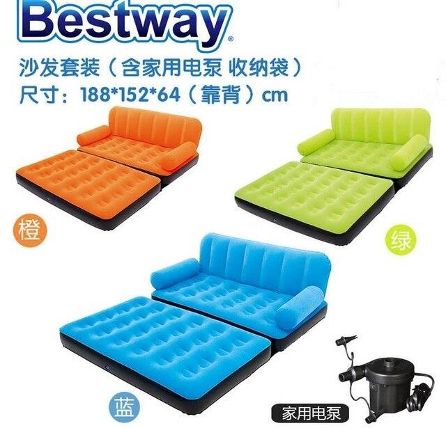 188X152X64 CM pvc Reunindo cinco em um apartamento cama dobrável ingênuo casa sofá sofá ao ar livre, laranja, azul, verde sofá mobiliário camas