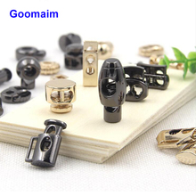 цена на 100 pcs High grade metal cord end shoelace fittings coat rope stoppers slip stop cord lock adjustment overcoat rope buckle