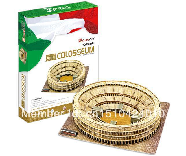 Colosseum CubicFun 3D educational puzzle Paper & EPS Model Papercraft Home Adornment for christmas birthday gift wat phra kaew cubicfun 3d educational puzzle paper