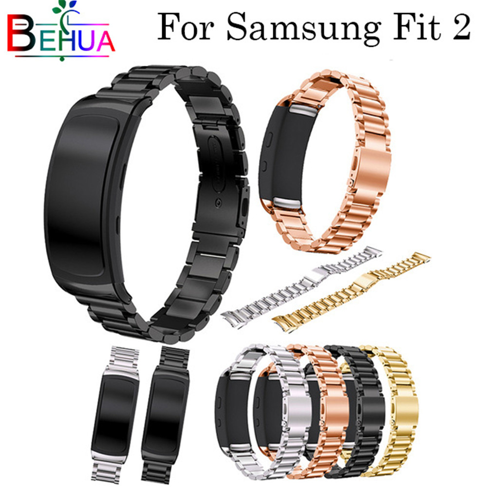 For Samsung Gear Fit 2 Pro Watch Strap Replacement Luxury Stainless Steel Watchband Wristband For Samsung Gear Fit2 Watch Band