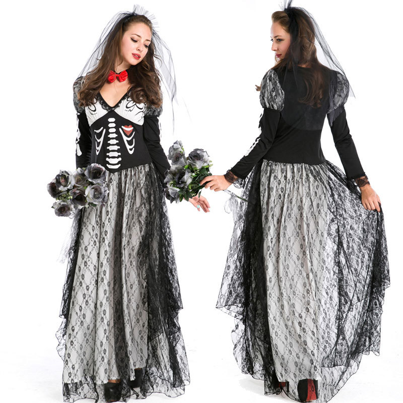 adult girls halloween costume cosplay ghost bride skeleton zombie role play costume party game uniform terror masquerade cosplay on aliexpresscom alibaba